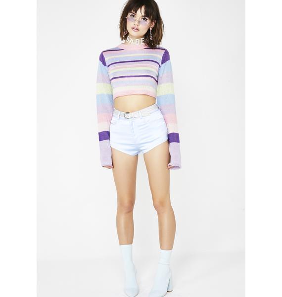 Sugar Thrillz OG Dream Queen Striped Sweater