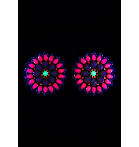 Neva Nude Mayan Warrior UV Reactive Pasties