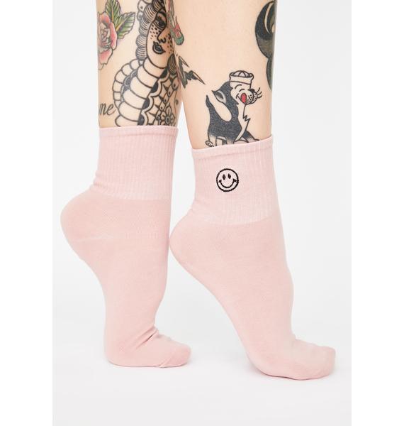 Always Upbeat Smiley Face Socks
