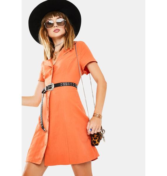 Glamorous Dusty Orange Mini Dress