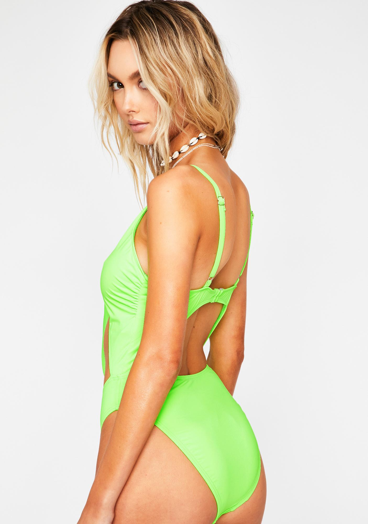Dippin' Daisy's  Lime Glam One Piece Swimsuit