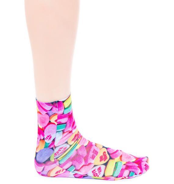 Conversation Hearts Socks