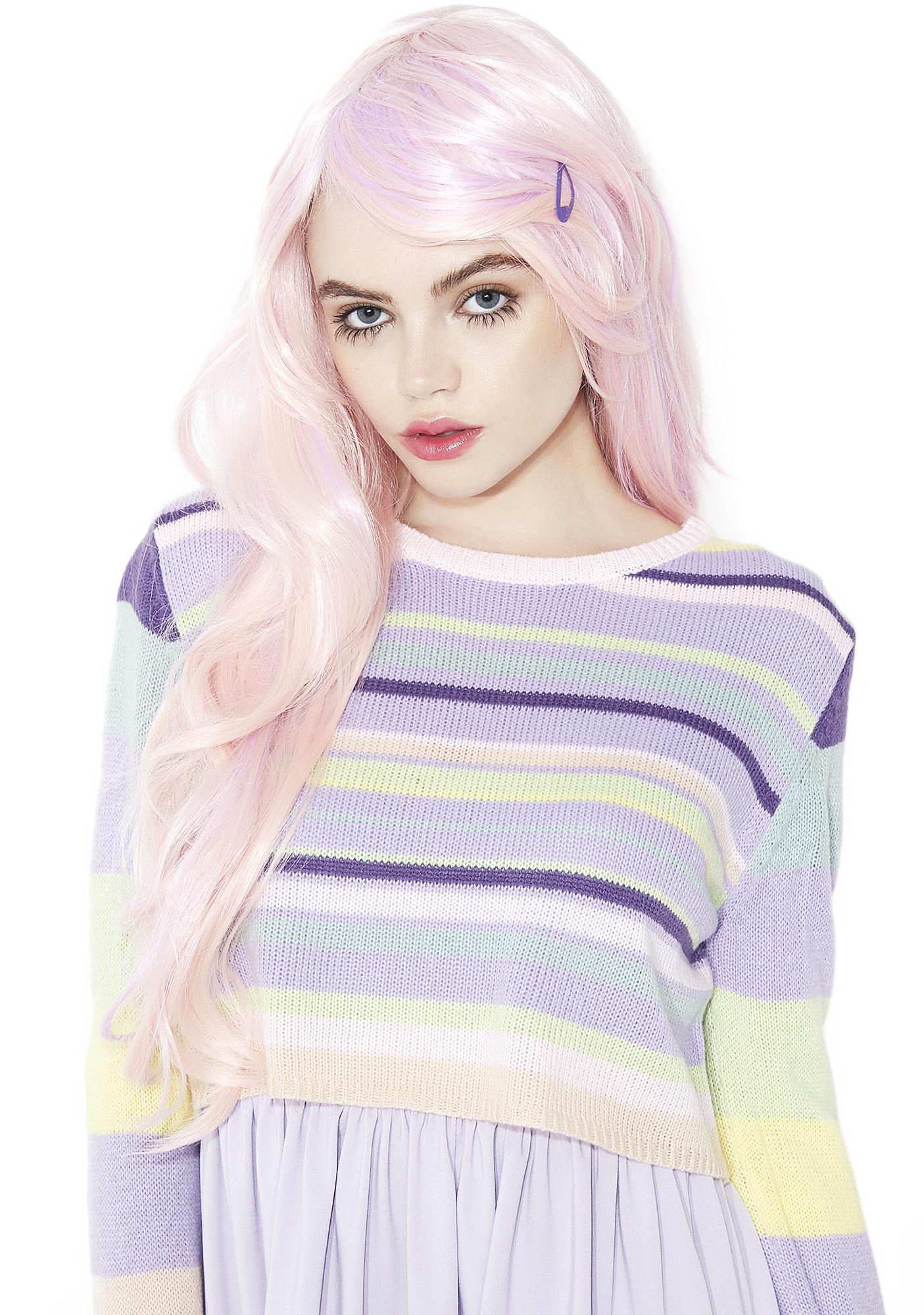 Rockstar Wigs Powder Pink Wavy Wig