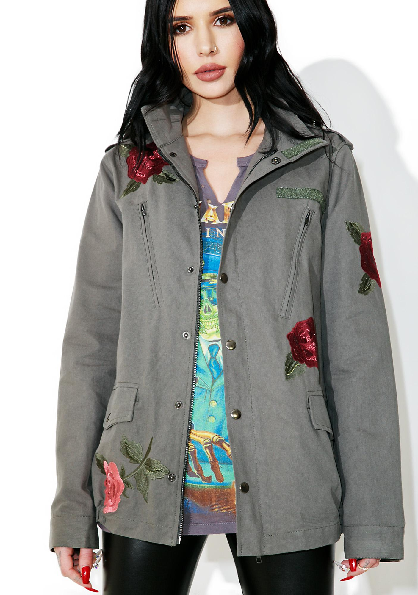 Rose Bud Military Jacket