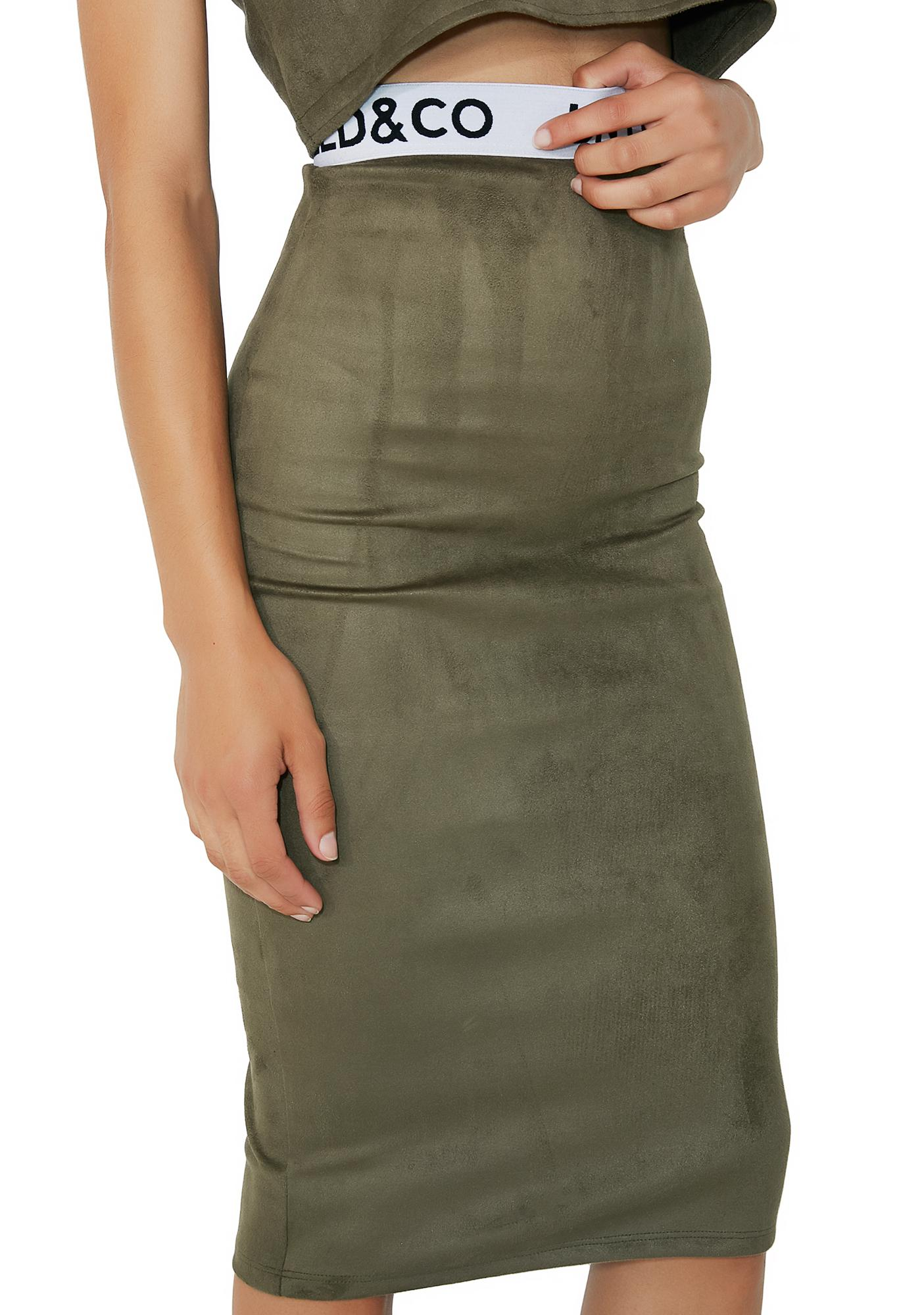 Untitled & Co Military Alex Skirt