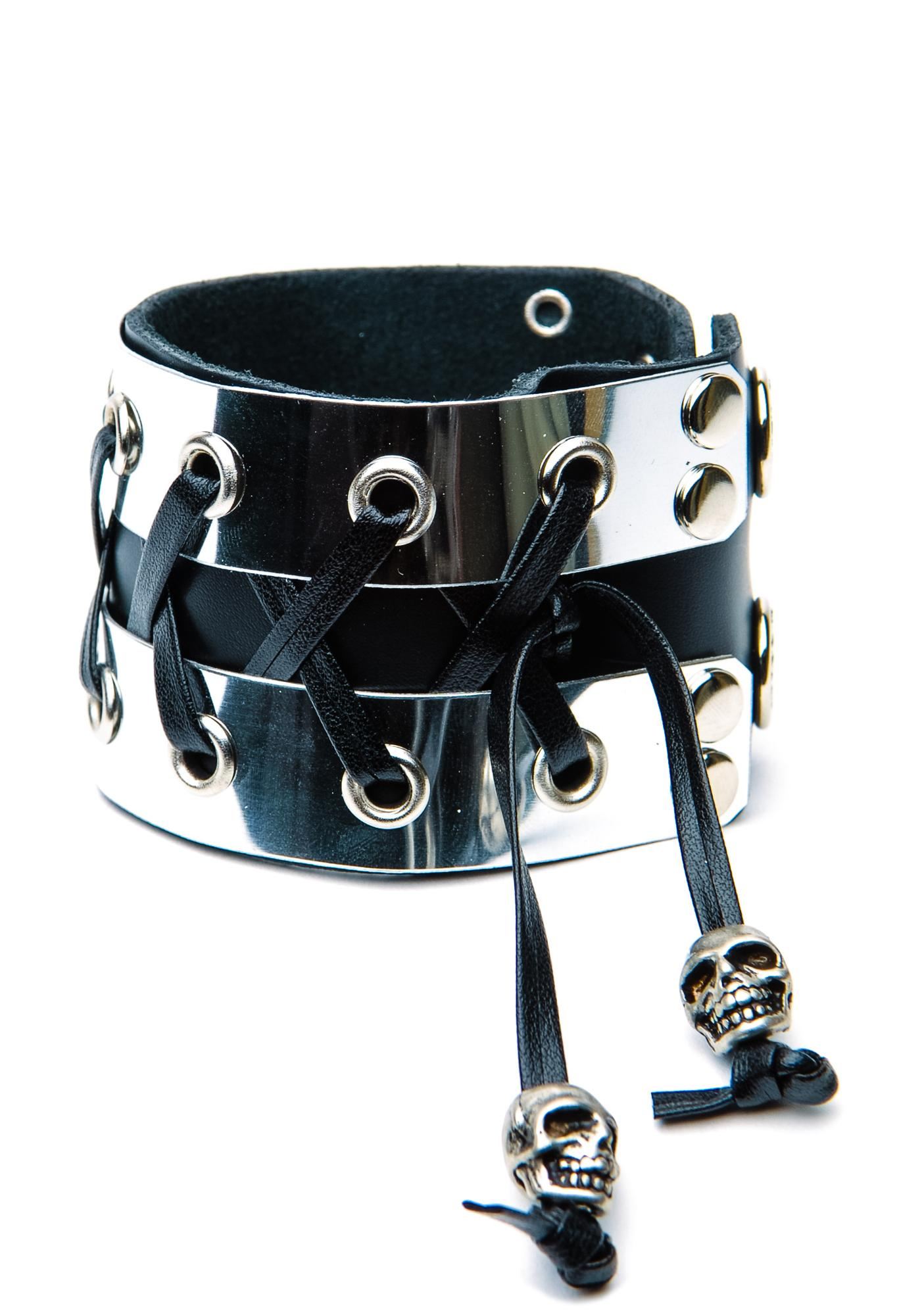 Club Exx Fistful of Metal Corset Bracelet