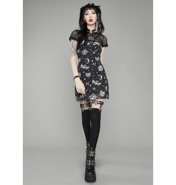 Dolls Kill Dark Greetings Pentagram Mini Dress