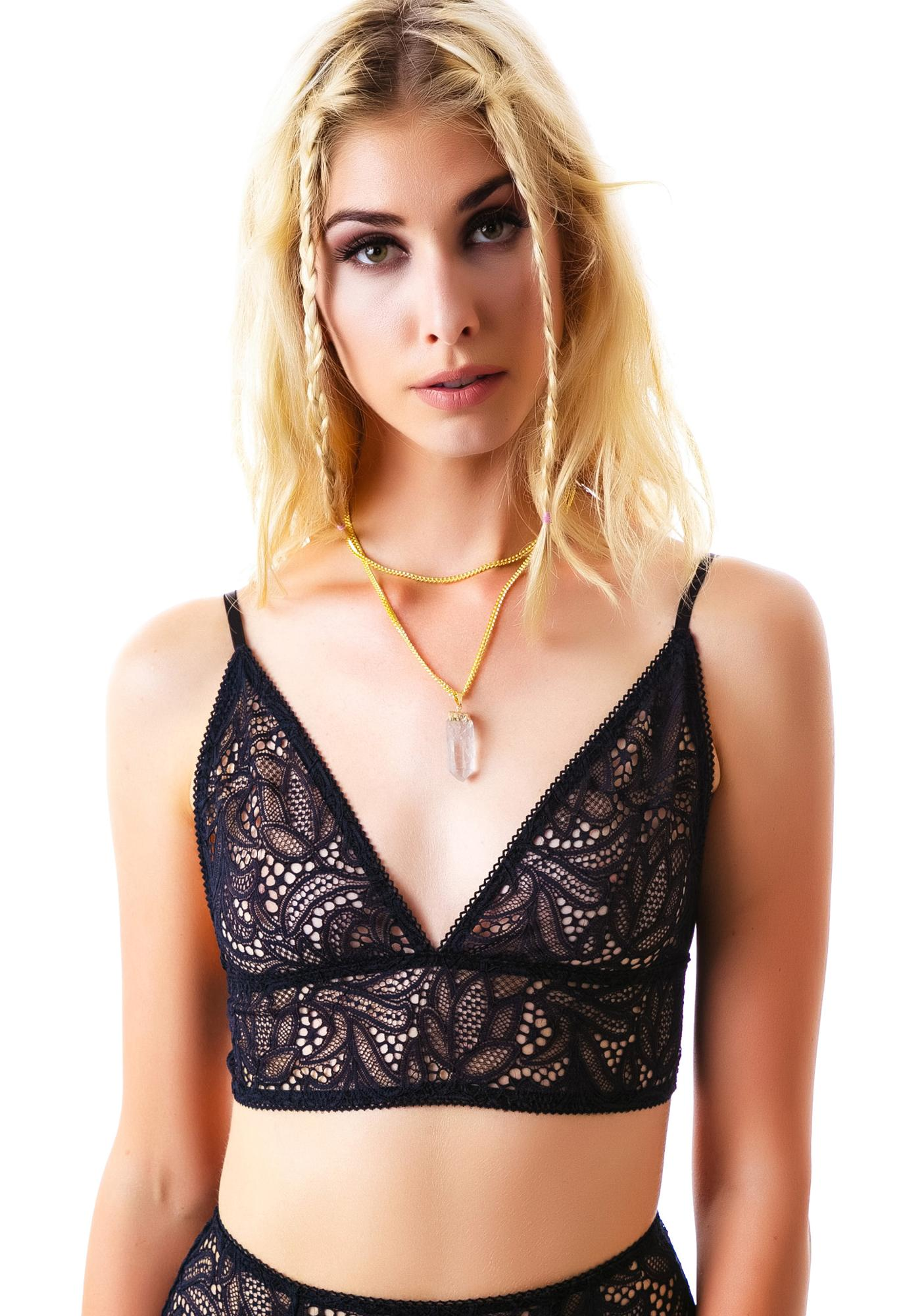 For Love & Lemons Infamous Lace Plunge Bra
