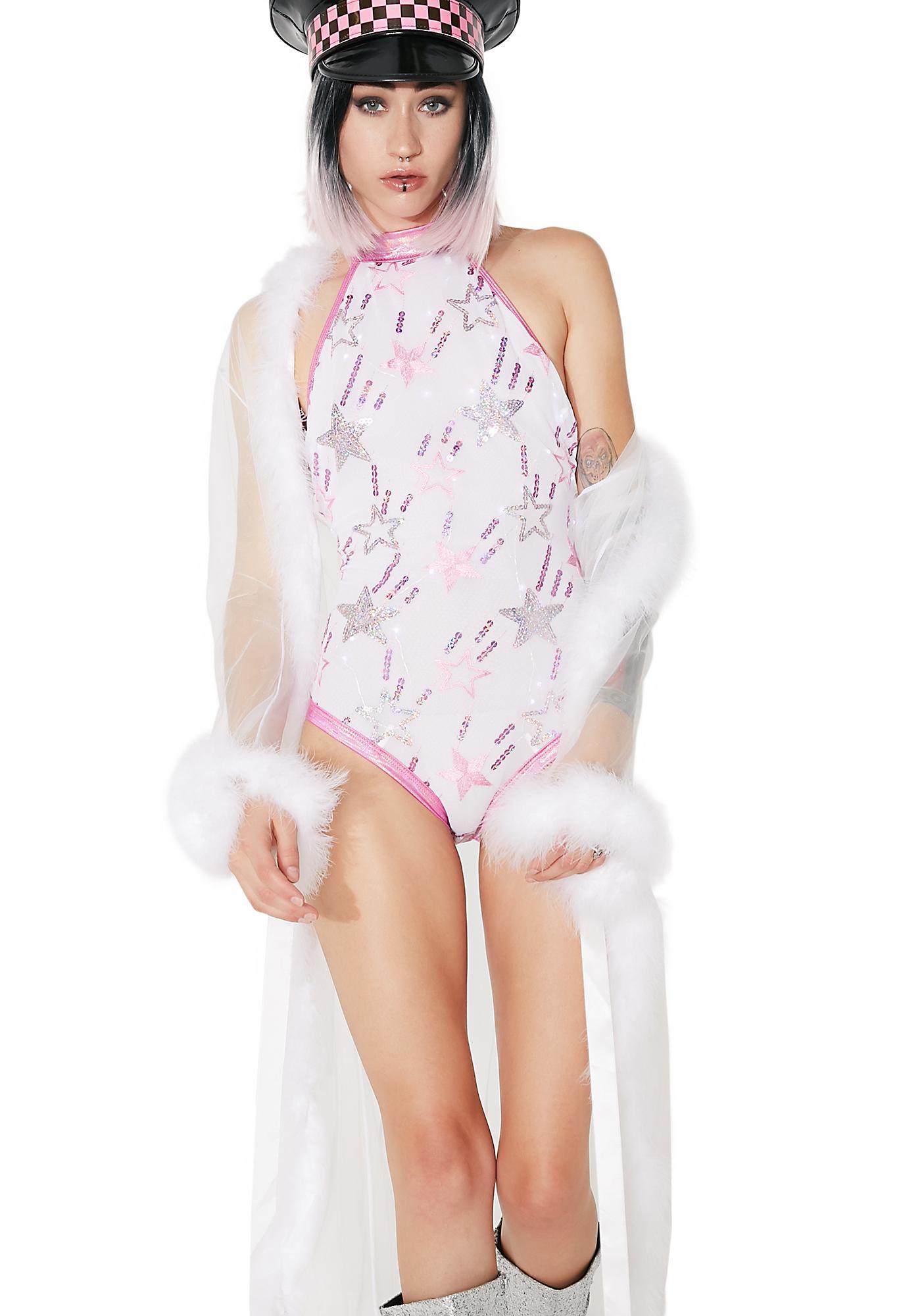 J Valentine Twinkle Light-Up Sequin Bodysuit