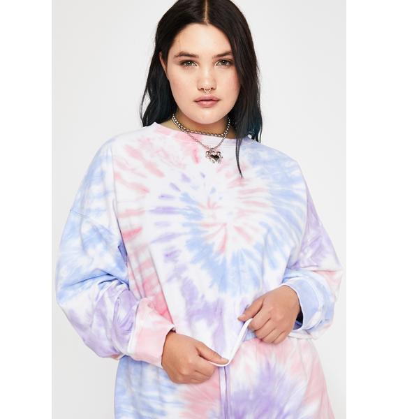 HOROSCOPEZ Dear Moody Mystic Crop Sweatshirt