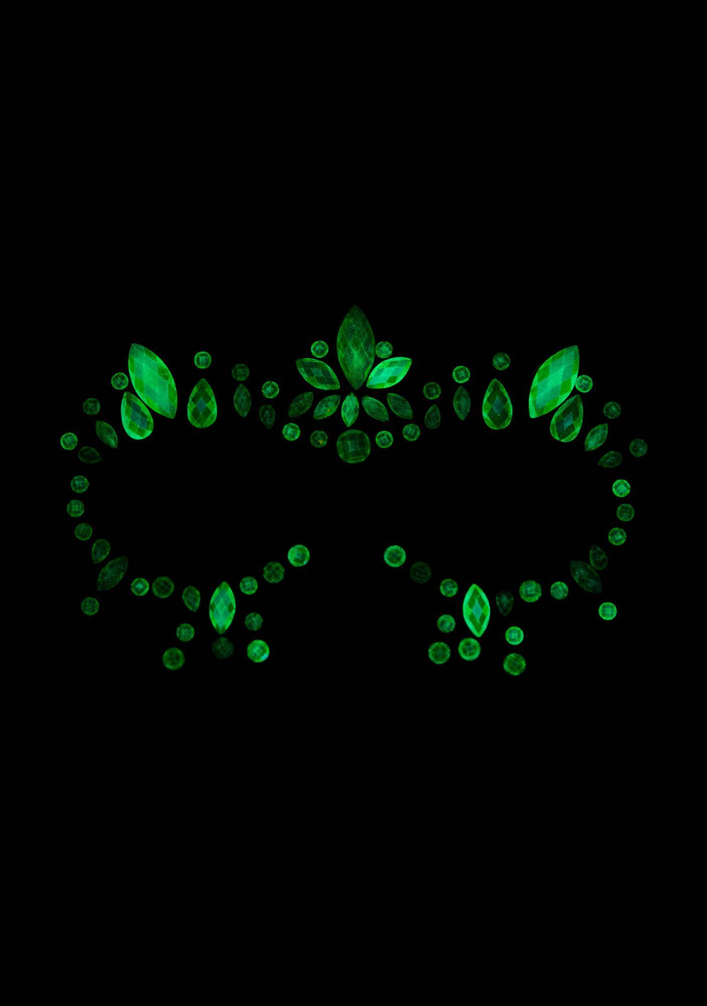 Glow For It Glow In The Dark Face Gems