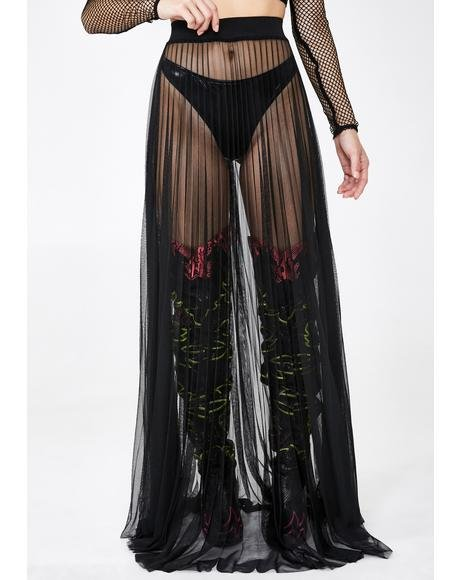 Dark Queens Everywhere Tulle Skirt