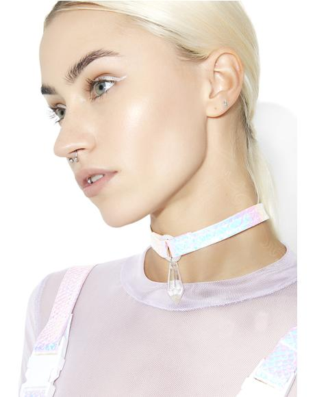 Holographic Diamond Drop Choker