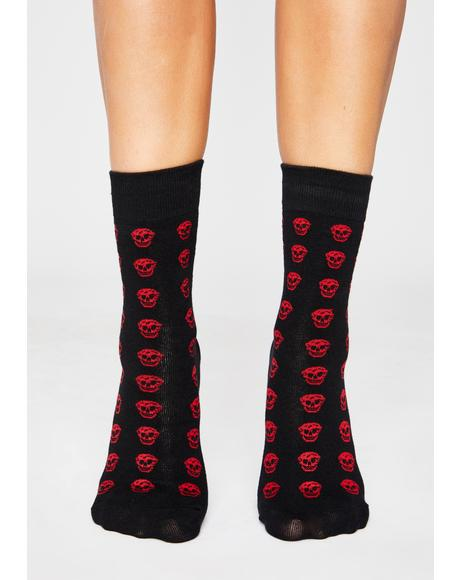 Freak Face Skull Socks