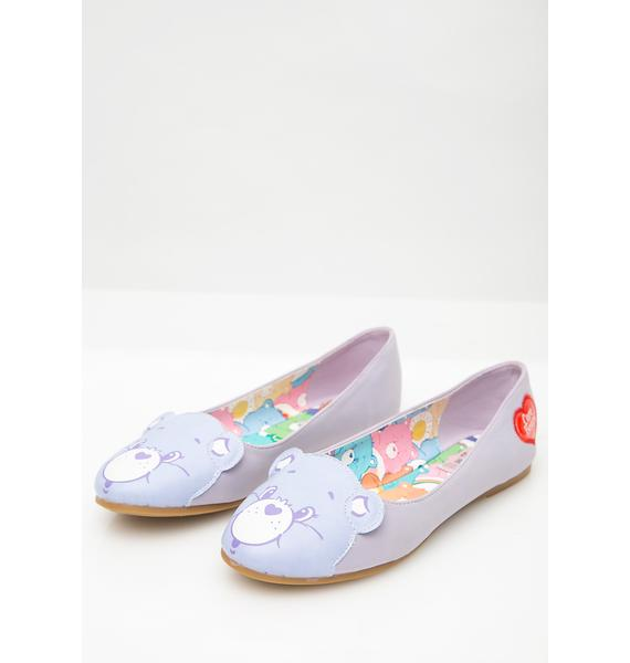 Iron Fist Lilac Care Bears Stare Flats