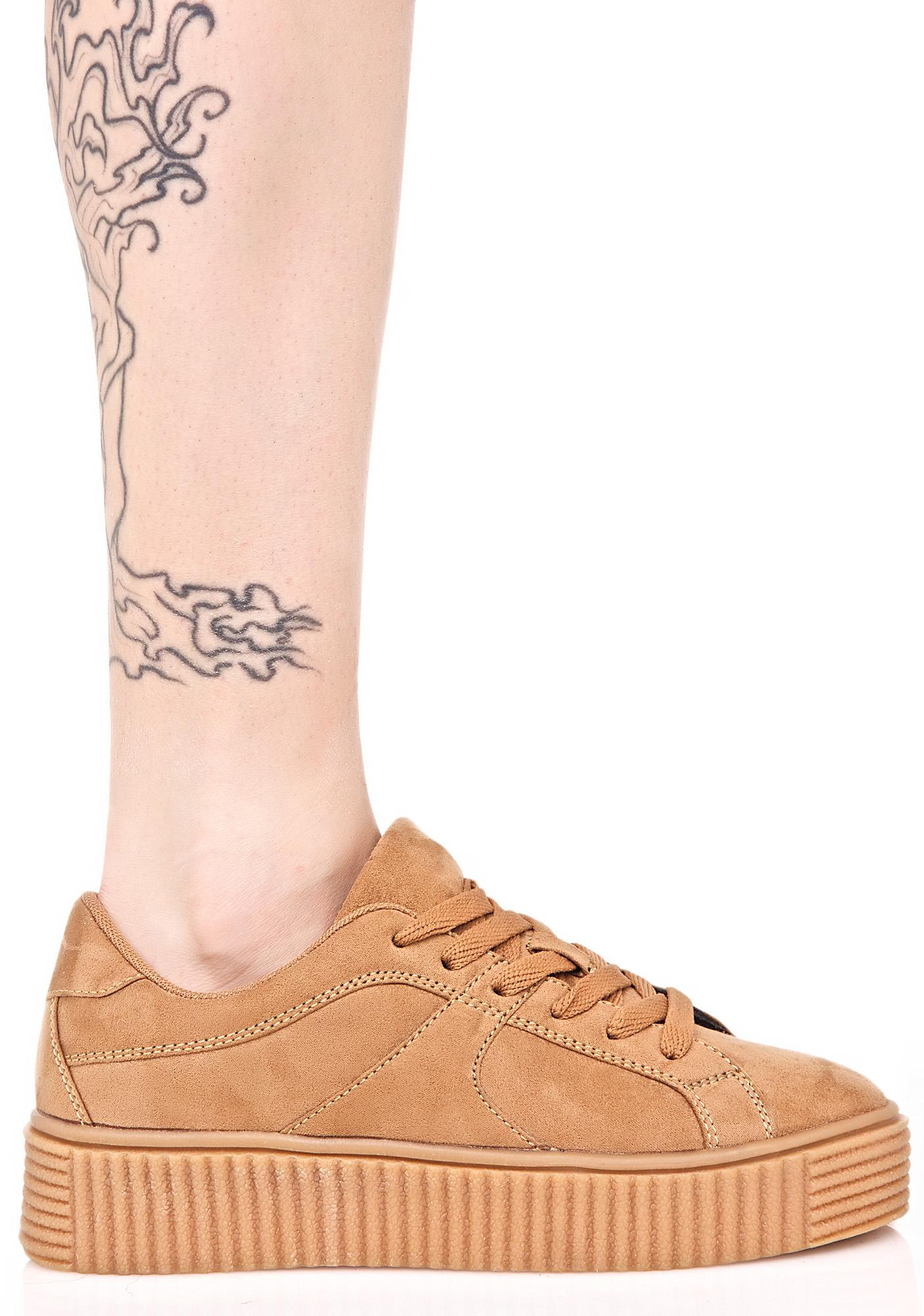 Sand Forward Motion Creeper Sneakers