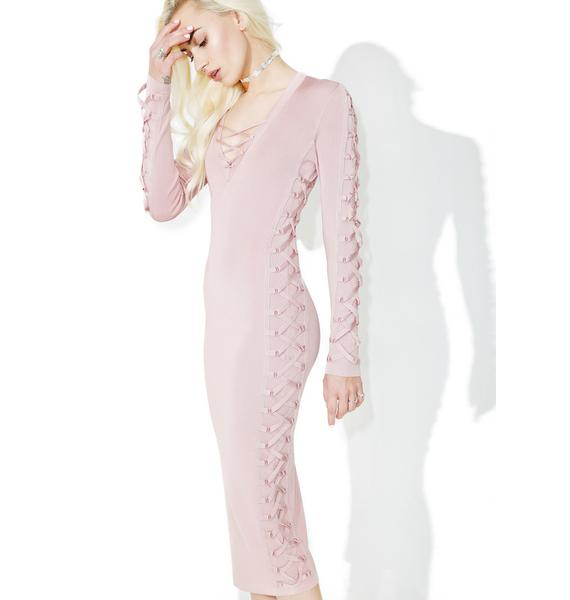 Glamorous Da Zone Lace-Up Midi Dress