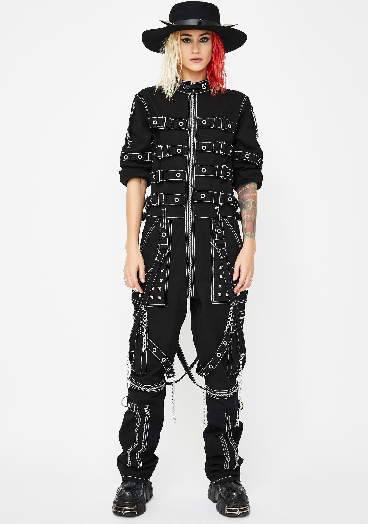 Tripp NYC Chain And Strap Jumpsuit