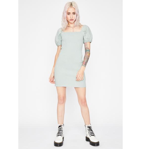 Sage Wild Feeling Mini Dress