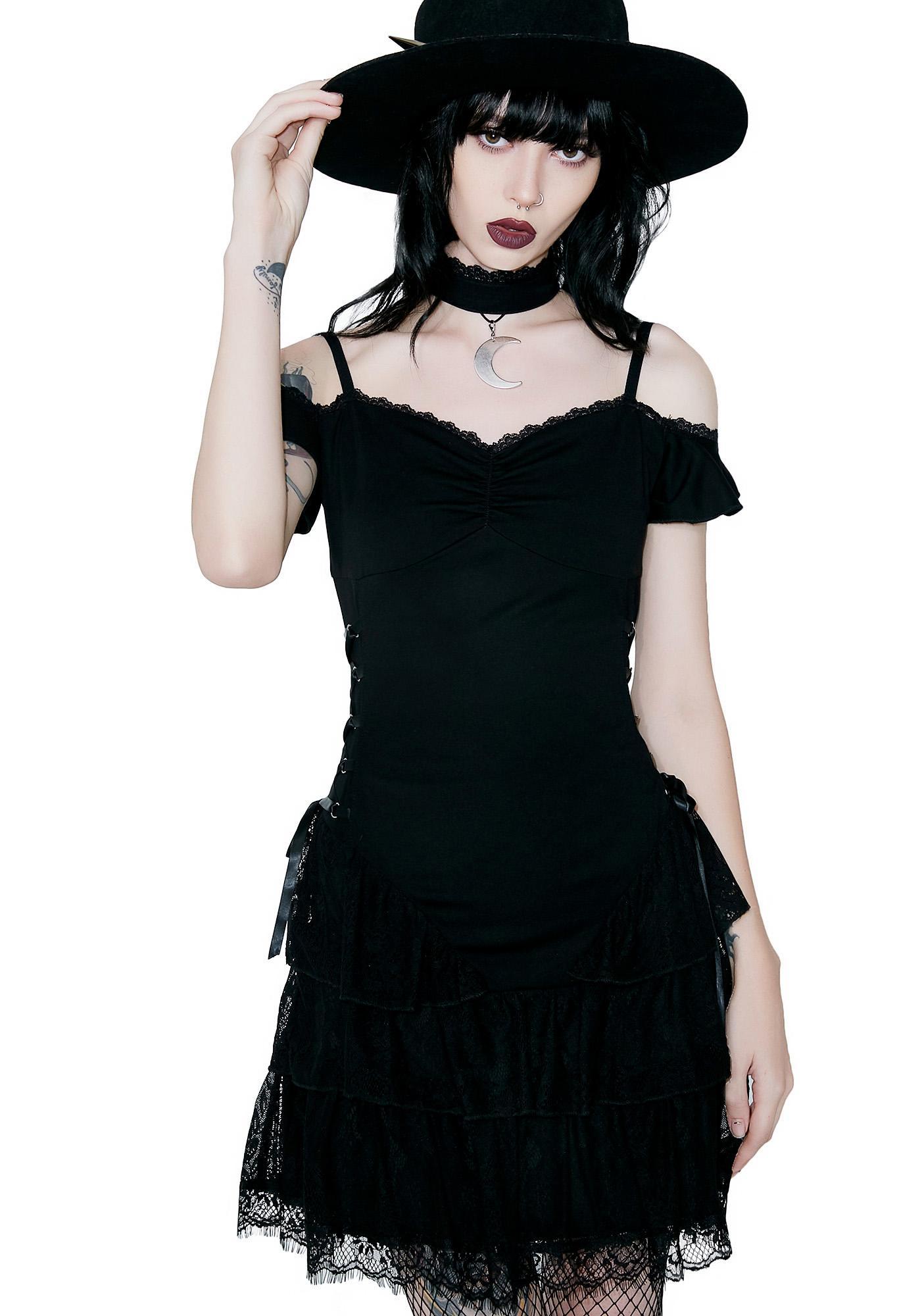 1913c6de43 Killstar Black Magic Corset Dress