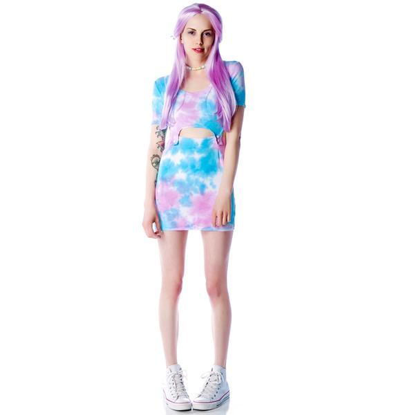 Shown To Scale Tie Dye Bundy Dress
