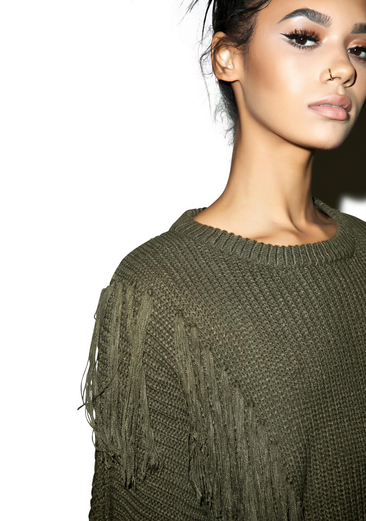 Studio Fringe Sweater