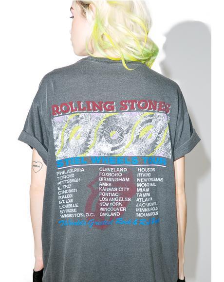 Rolling Stones Steel Wheels Tee