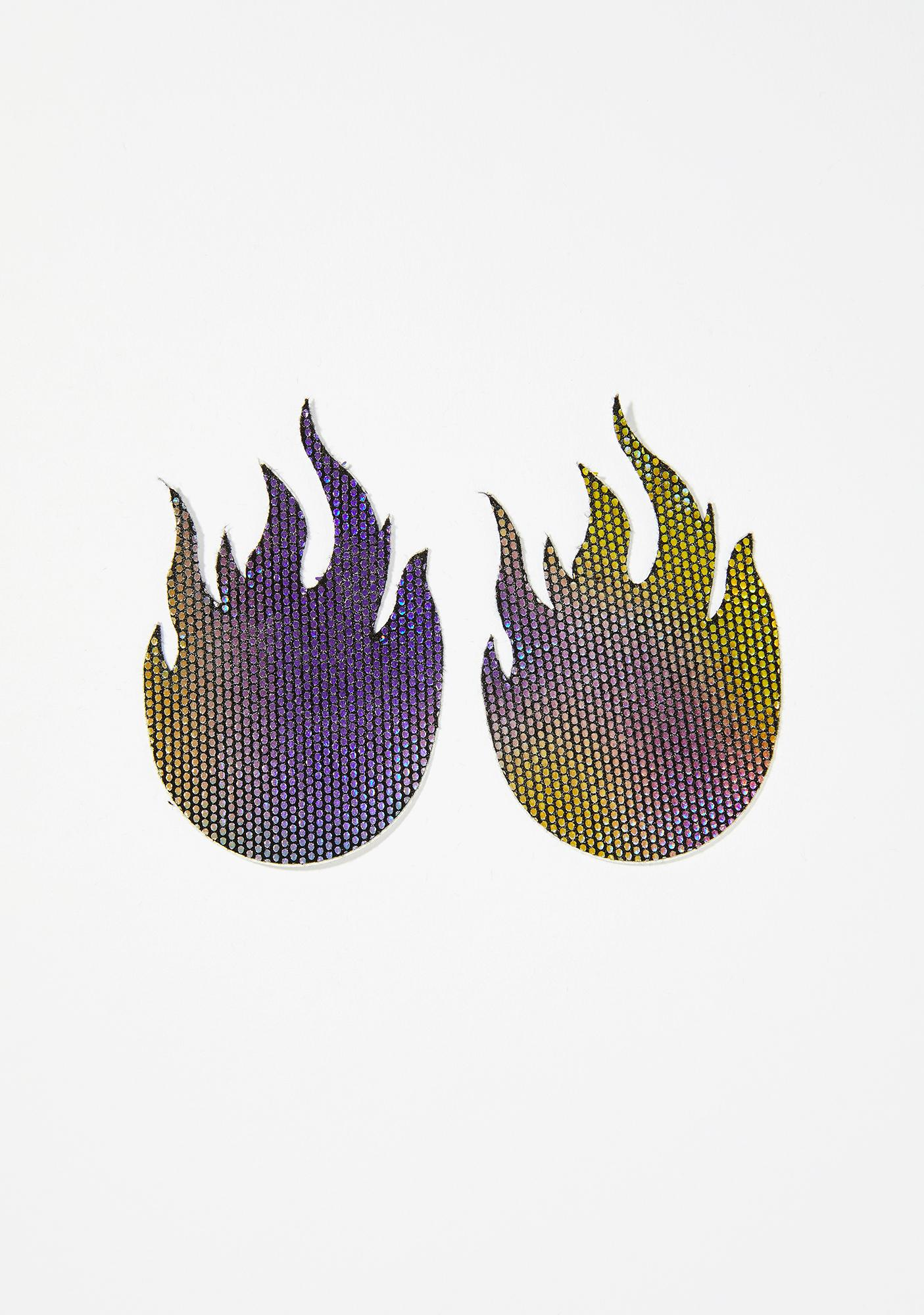 Pastease Flame Midnight Rainbow Pasties