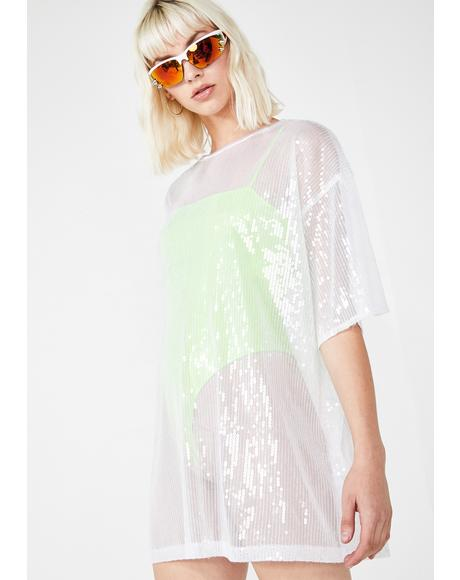 Icy Sunny Kiss Tee Dress