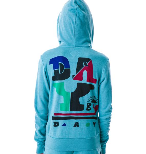 Day By Day D Logo Zip Up Hoodie
