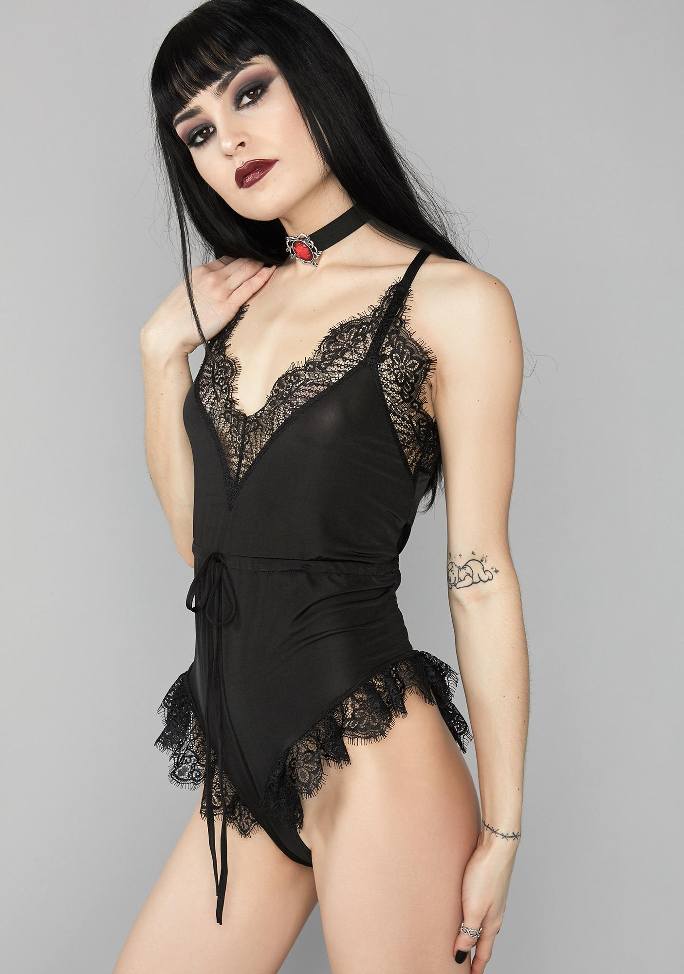 Widow Sweet Torment Lace Romper
