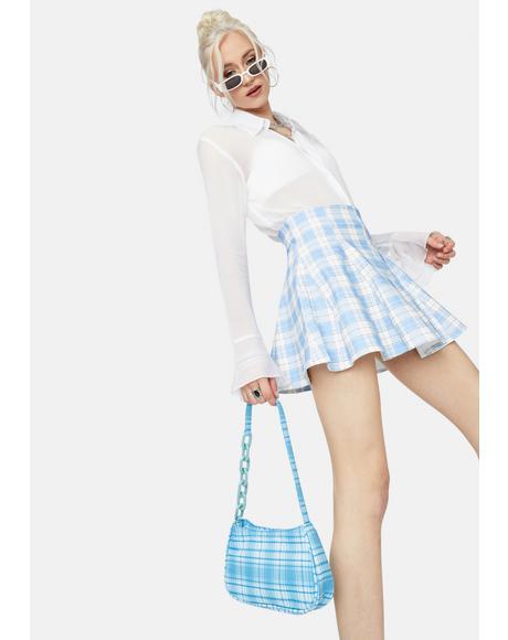 Cool My Own Motives Plaid Mini Skirt