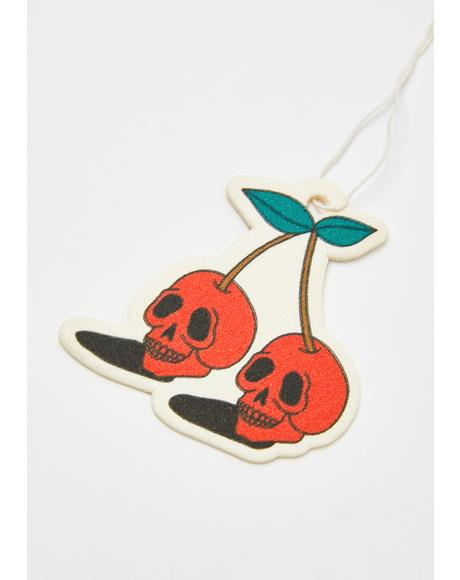 Skull Cherries Air Freshener