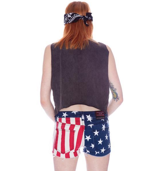 Lip Service Stars and Stripes Dirty Boyfriend Shorts