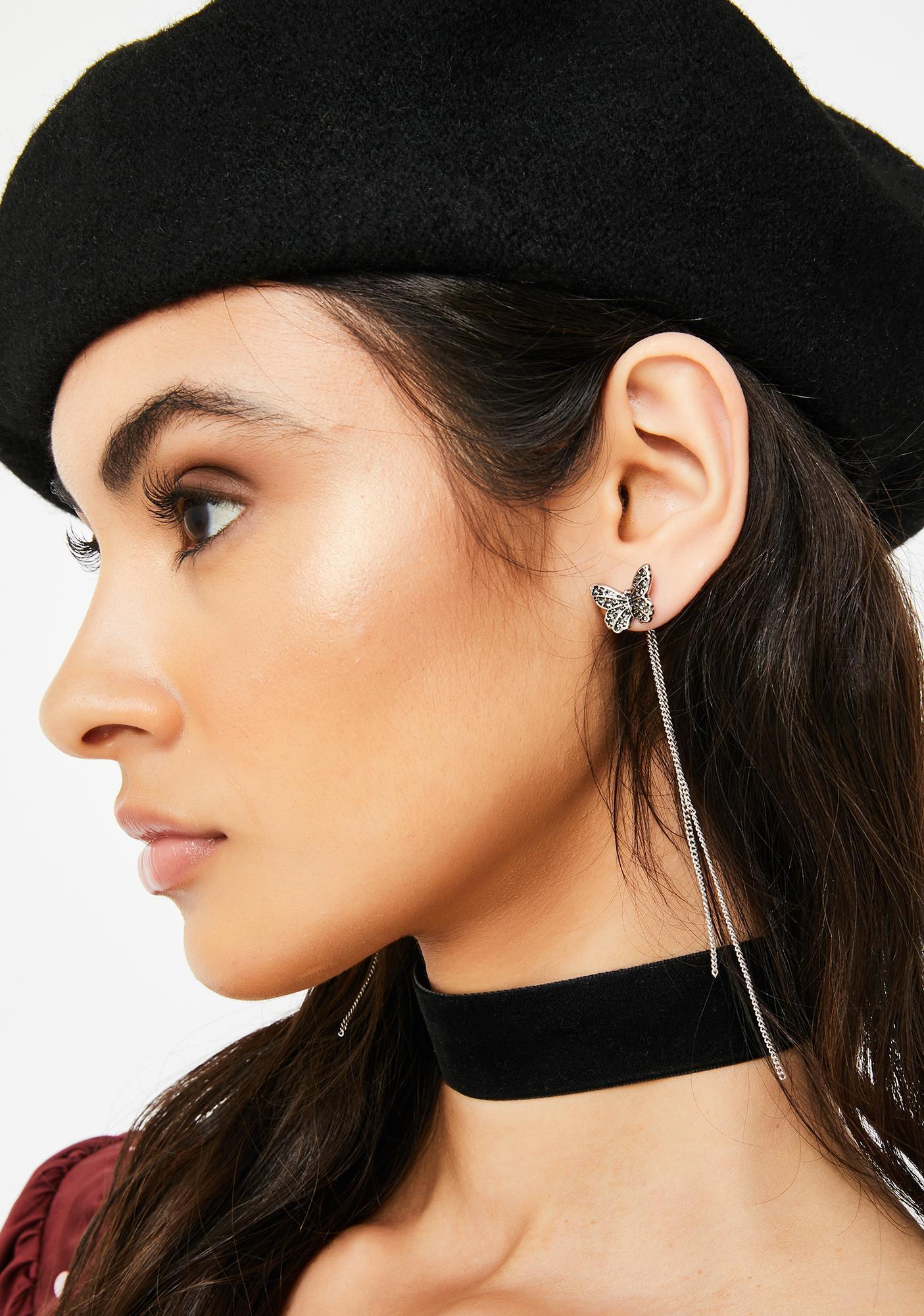 Flutter Fixation Chain Earrings