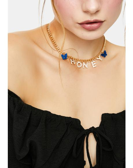 Uh Huh Honey Butterfly Chain Necklace