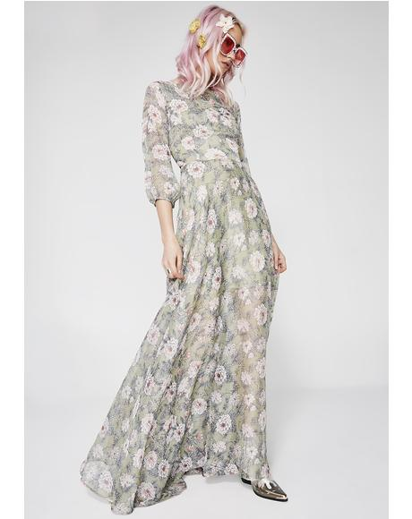 She'z No Wallflower Maxi Dress