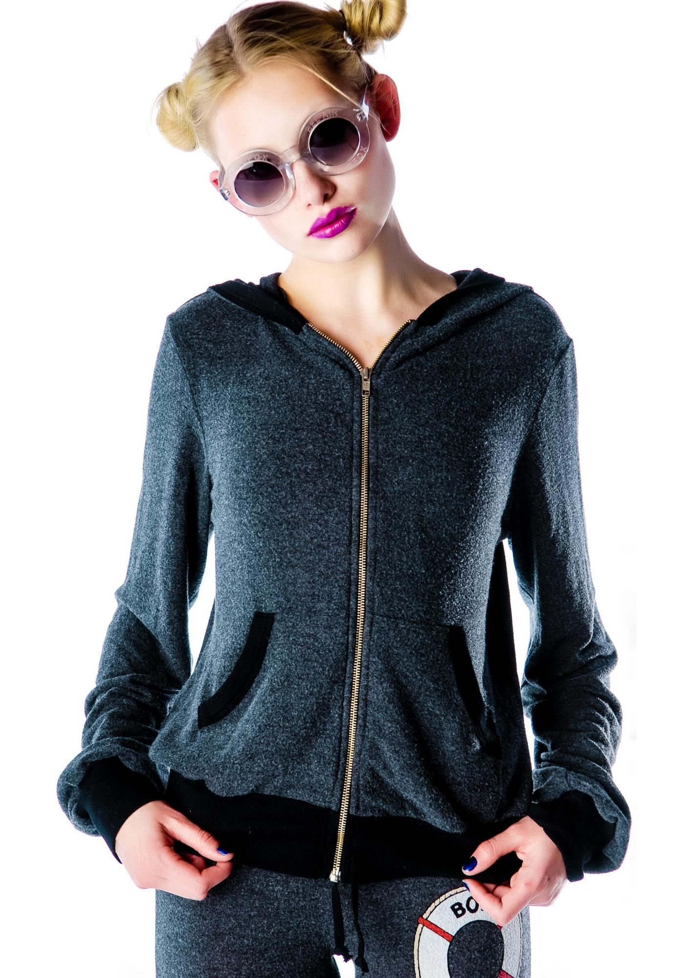 Wildfox Couture No Skinny Dipping Malibu Zip Up Hoodie