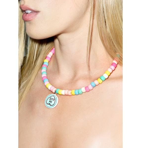 Twisted Bitches Bite Me Candy Choker