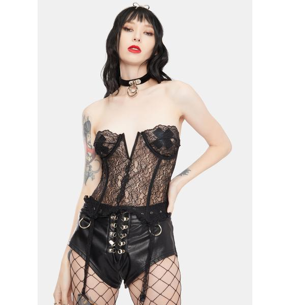 Kiki Riki Came To Play Lace Bustier Top