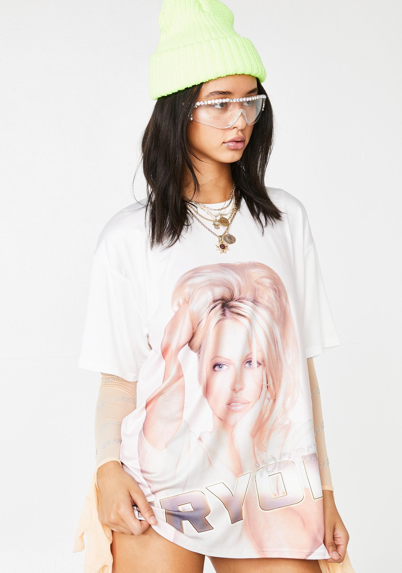 No Dress Blonde Beauty Graphic T-Shirt