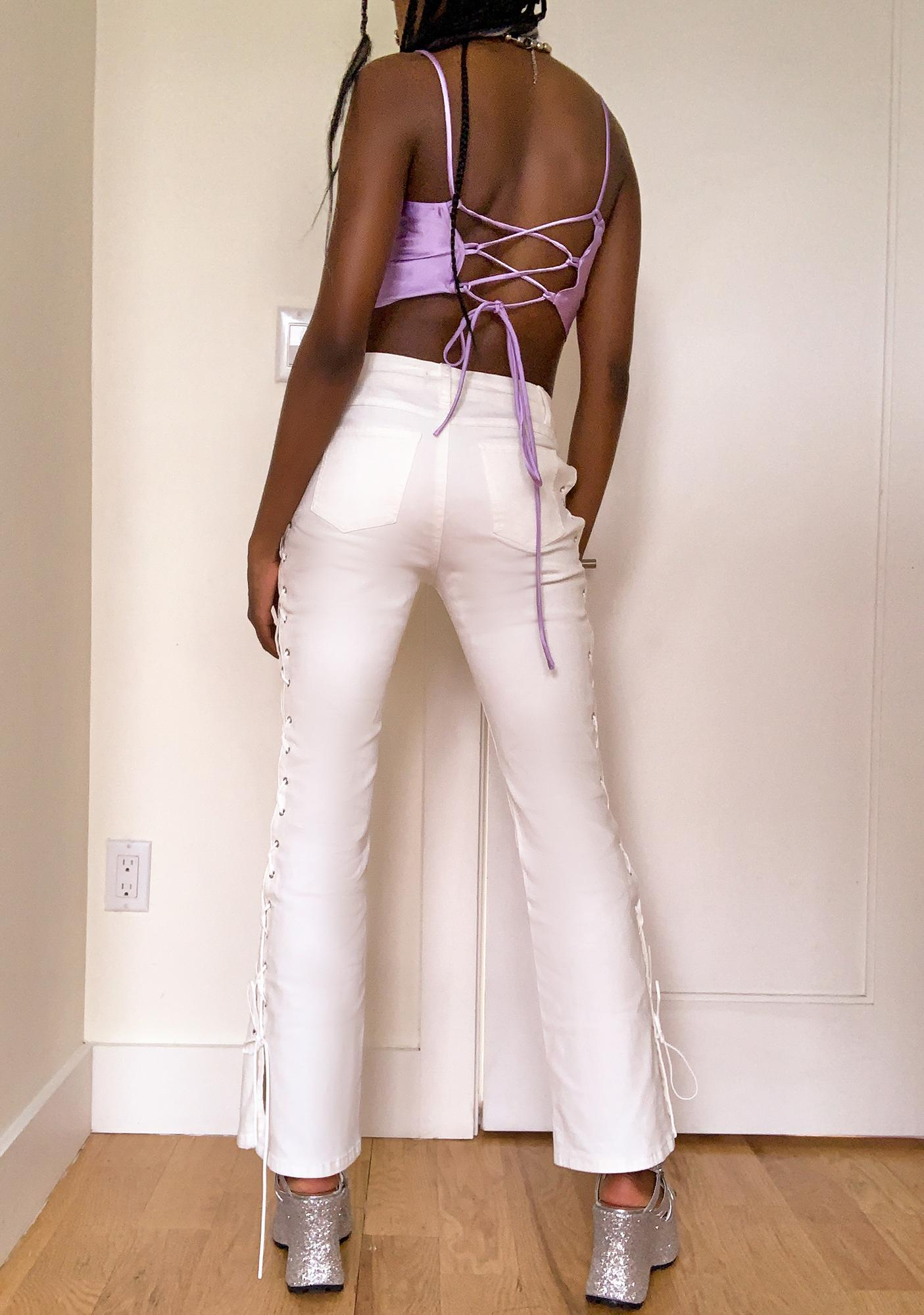 dELiA*s by Dolls Kill Back In Action Lace Up Jeans