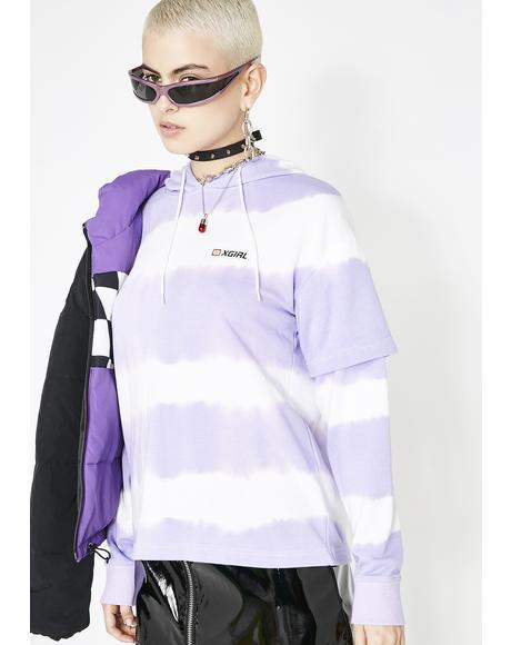 Tie Dye Layered Hoodie