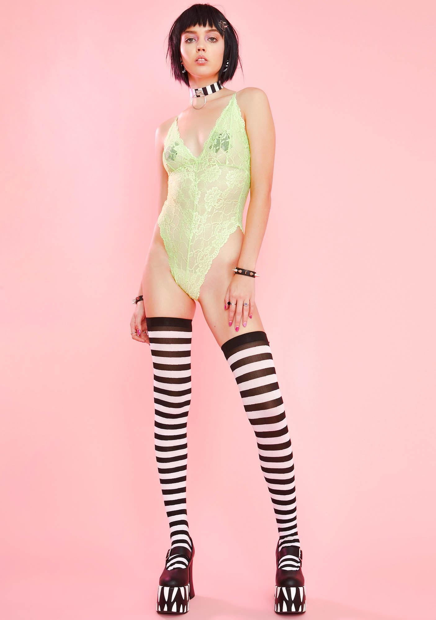 Sugar Thrillz Cyanide Cutie Lace Bodysuit