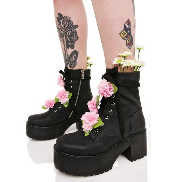 Sugarbaby Grunge Petals Boots