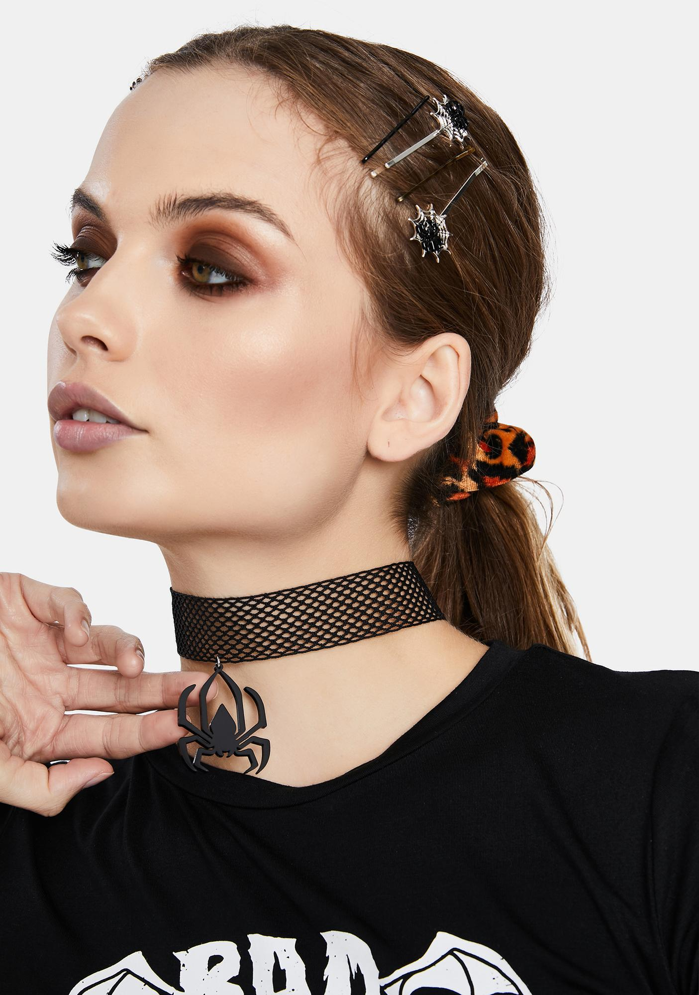 Make Your Skin Crawl Fishnet Choker