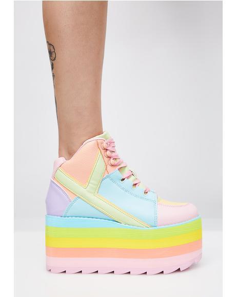 (Pre)Skoolin' U Platform Qozmo Sneakers