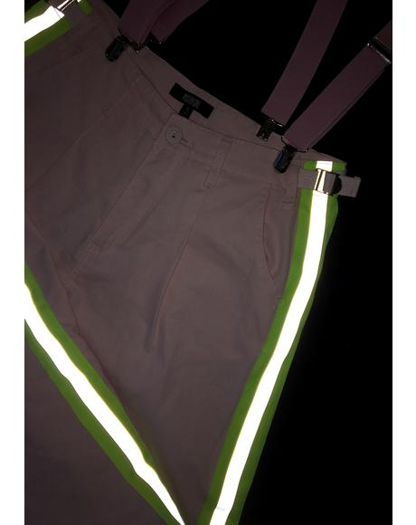 Champagne Shine Reflective Pants