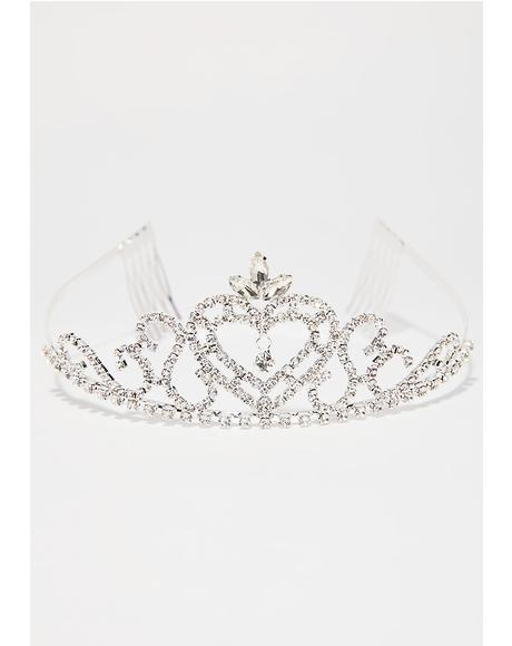 Bow Down Bling Tiara