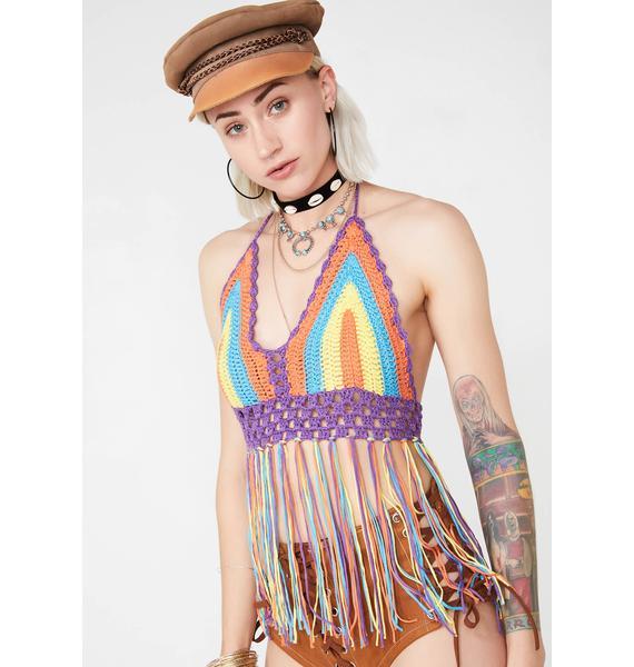 Vibin' High Crochet Top